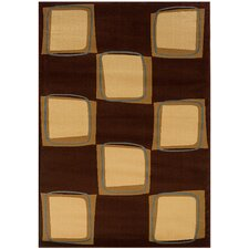 Adana Brown/Cream Checkerboard Rug