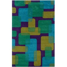 Vibrance Purple Geometric Rug