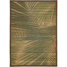 Palm Tree Natural Rug