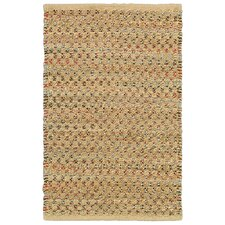 Natural Fiber Dark Rust Rug