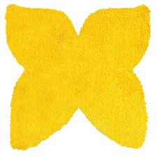 Senses Shag Yellow Butterfly Kids Rug