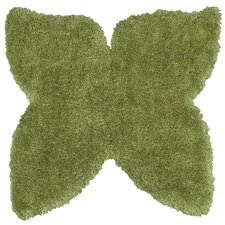 Senses Shag Green Butterfly Kids Rug