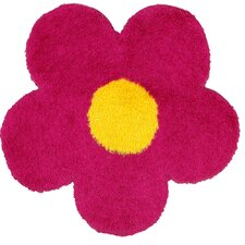 Senses Shag Pink Flower Kids Rug