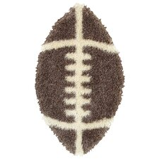 Senses Shag Football Kids Rug