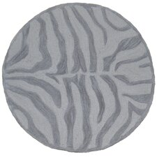 Fashion Taupe and Sliver Zebra Rug