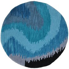 Fashion Blue Wave Rug