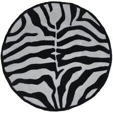 Fashion Black and Cream Zebra Rug