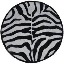 Fashion Black and Cream Zebra Rug