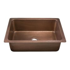 "Limited Editions 30"" x 20"" Pisa Hand Hammered Single Bowl Kitchen Sink"