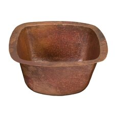 Picasso II Square Hand Hammered Bathroom Sink