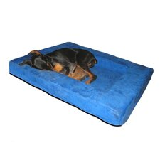 "4"" Comfort Nest Memory Foam Bolster Dog Bed"