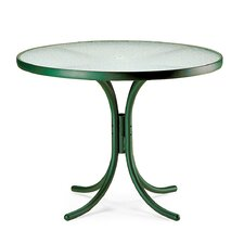 "Obscure Acrylic Top Tables 36"" Round Dining Table with Hole"