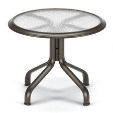 "Obscure Acrylic Top Table 26"" Round End Table Ogee Rim"