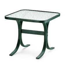 "Obscure Acrylic Top Table 22"" Square End Table"