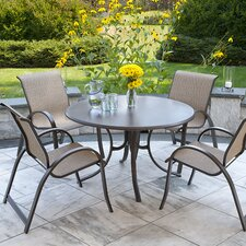 Quick Ship Aruba II Sling Werzalit 5 Piece Dining Set