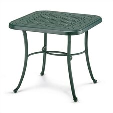 22'' Square Cast Aluminum End Table