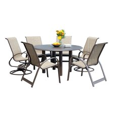 <strong>Telescope Casual</strong> Quick Ship Primera Sling 7 Piece Dining Set
