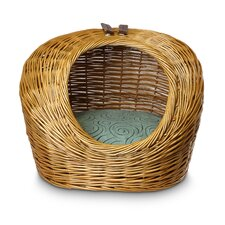 Luxury Wicker Quasar Robins Egg Cat Basket and Bed