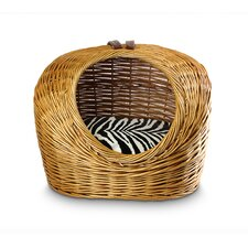 Luxury Wicker Zebra Micro Cat Basket and Bed