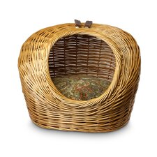 Luxury Wicker Cat Basket and Bed