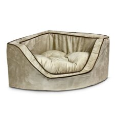 Luxury Corner Bolster Dog Bed