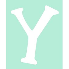 "Capital Letters ""Y"" Wall Art"
