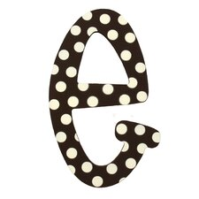 "Polka Dot Letters ""E"" Wall Art"