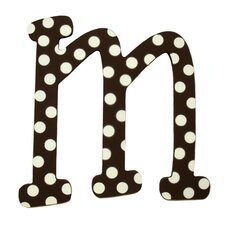 "Polka Dot Letters ""M/W"" Wall Art"