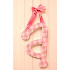 Gingham Letters Check Hanging Initials