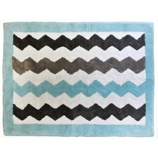 Chevron Baby Aqua/Gray Kids Rug