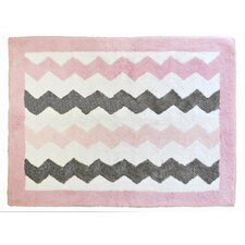 Chevron Baby Pink/Gray Kids Rug