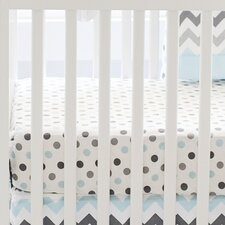 Chevron Baby Polka Dot Crib Sheet