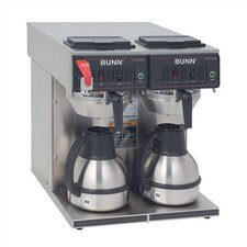 <strong>Bunn</strong> CWTF Twin TC Automatic Thermal Carafe Brewer with Hot Water Faucet