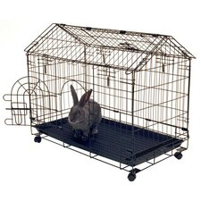 Bunny House 4-Wheel Cage
