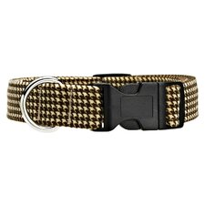Triple Layer Houndstooth Dog Collar