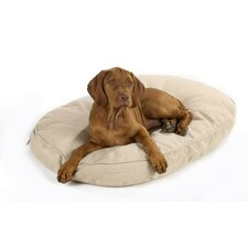 Designer Oval Dog Bed in Natural Hemp Fabric