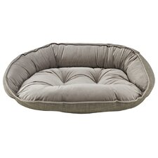Diam Microvelvet Crescent Bolster Dog Bed