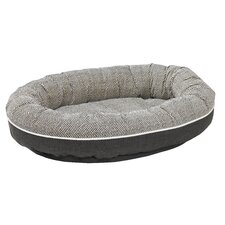 Diam Microvelvet Orbit Donut Dog Bed
