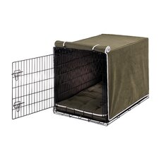 Luxury Plat Microvelvet Dog Crate Cover