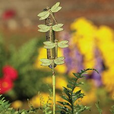 Cast Staked Dragonfly Rain Gauge