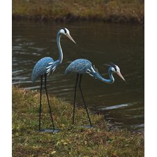 Pair of Two Herons Statue