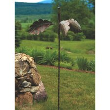 Spinning Oak Leaves Garden Stake