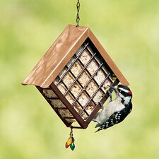Deluxe Metal Suet Cake Bird Feeder