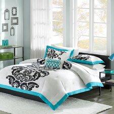 Florentine Teal Modern Comforter Set
