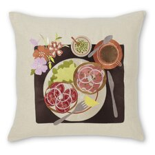 Bagel and Lox Linen Pillow