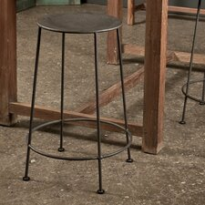 Iron Counter Stool in Zinc (Set of 2)
