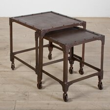Iron 2 Piece Nesting Table