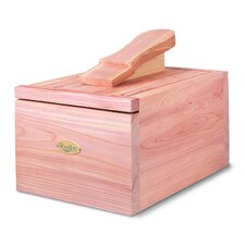Cedar Shoe Care Valet with Starter Kit I in Natural Cedar Finish