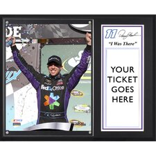 NASCAR Denny Hamlin 2012 Subway Fresh Fit 500 Winner 'I WAS THERE' Memorabilia Plaque