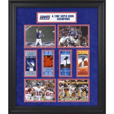 NFL New York Giants Super Bowl Ticket Collage Framed Memorabilia